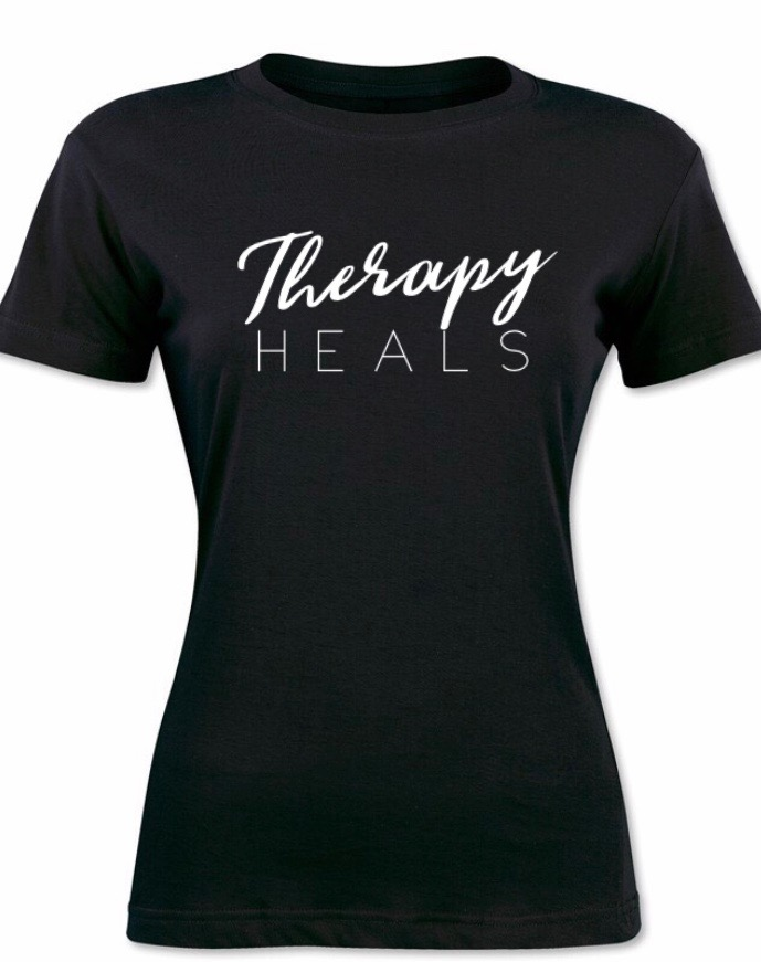 Therapy Heals T-Shirt (White Lettering)